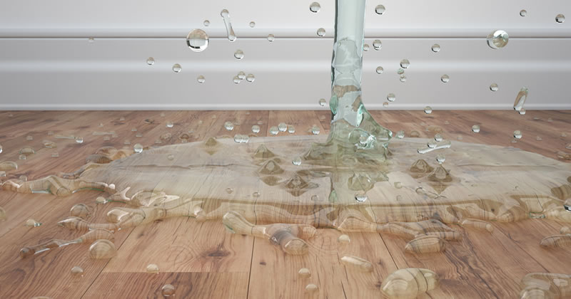 Pic of water damage to floor